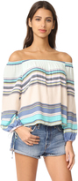 Wildfox Couture Alyssa Coscarelli Boardwalk Stripe Marietta Top