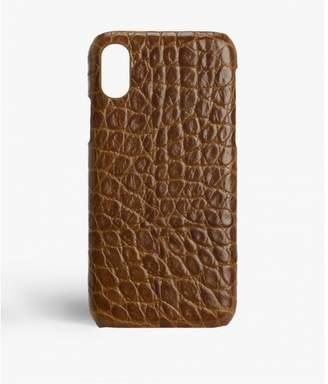 Factory The Case Iphone X-xs Crocodile Cognac