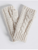 M&S Collection Cable Knit Gloves