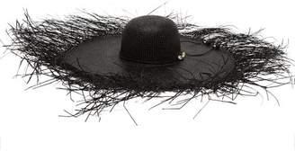 Sensi Studio - Lady Ibiza Shell-embellished Straw Hat - Womens - Black