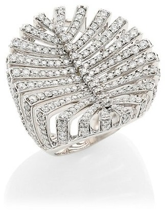 Hueb Apus 18K White Gold & Diamond Ring