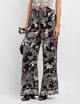 Charlotte Russe Floral Palazzo Pants
