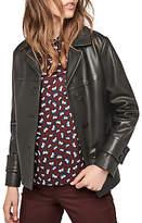 Gerard Darel Ornella Leather Jacket, Black
