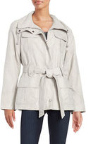 Gallery Belted Zip-Front Jacket
