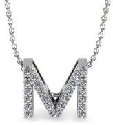 Adoriana 1/8 CT TW Diamond 14K White Gold Initial \