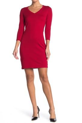 Calvin Klein 3/4 Length Sleeve Sweater Dress