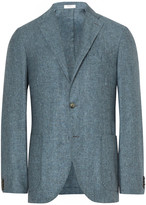 Boglioli Blue K-Jacket Slim-Fit Slub Silk and Linen-Blend Blazer