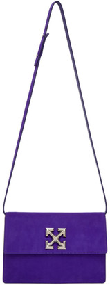 Off-White Purple Suede Jitney 1.0 Bag
