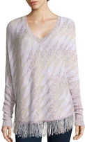 Love By Design Love by Design Long-Sleeve Fringe-Trim Poncho