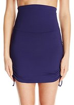 Anne Cole Women's Super High-Waist Shape Control Skirt Bikini Bottom
