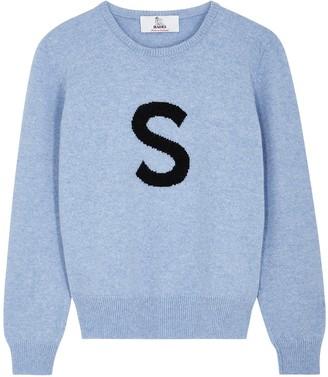 Hades Alphabet S light blue wool jumper