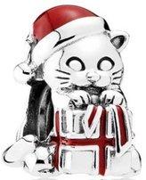 Pandora Charm Christmas Kitten with Berry Red Enamel