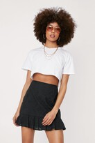 Thumbnail for your product : Nasty Gal Womens Broderie Anglaise High Waisted Ruffle Skirt - Black - 14