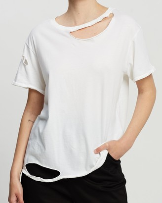 Topshop Extreme Nibbled T-Shirt