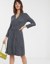 French Connection polka dot jersey dress