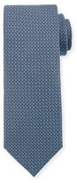 Canali Micro-Print Woven Silk Tie, Light Blue