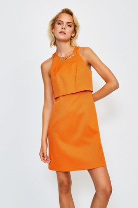 Karen Millen Eyelet Pique Shelf Dress