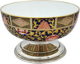 One Kings Lane Vintage Spode Silver-Plate Footed Fruit Bowl