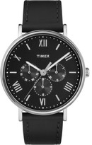 Timex Southview 41mm Silver/Black Leather Watch