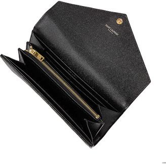 Saint Laurent Monogrammed quilted leather wallet