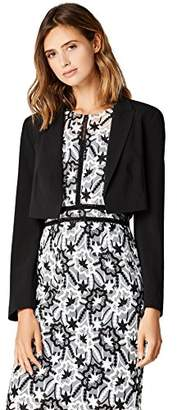 TRUTH & FABLE Women's Cropped Tuxedo Jacket,X-Large
