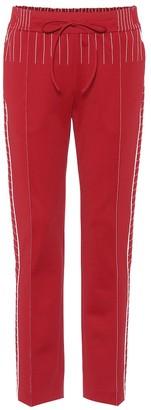 Valentino techno jersey trackpants