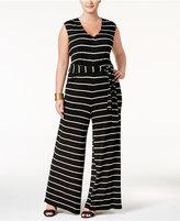 Love Squared Trendy Plus Size Wide-Leg Jumpsuit