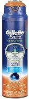 Gillette Fusion ProGlide Sensitive 2 in 1 Shave Gel, Ocean Breeze, 6 Ounce