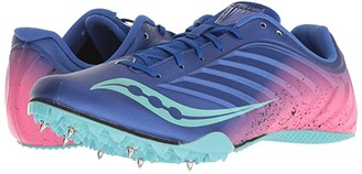 Saucony Spitfire 5 (Blue/Pink) Women's Running Shoes