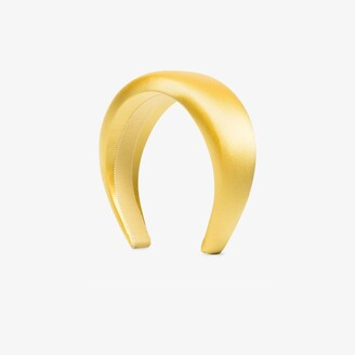Prada Yellow Logo Satin Headband