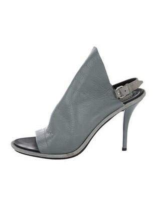 Balenciaga Leather Slingback Sandals Grey