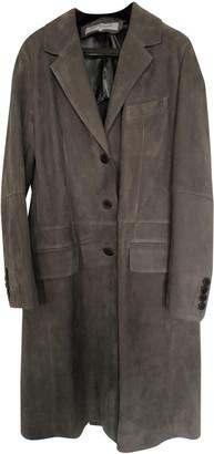Gerard Darel Grey Leather Coats