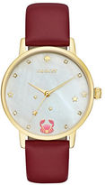 Kate Spade Metro Cancer Stainless Steel Analog Leather Strap Watch