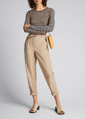 Akris Punto Signature Stripe Wool Knit Pullover