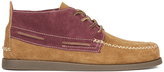 Sperry A/o 2eye Wedge Suede Chukka Boots - Tan/burgundy