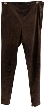 Balenciaga Brown Suede Trousers