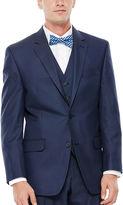 Izod Navy Sharkskin Suit Jacket - Classic Fit