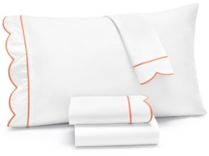 Martha Stewart Collection Signature Scallop 4-Pc. Full Sheet Set, 400 Thread Count 100% Cotton Percale, Created for Macy's Bedding