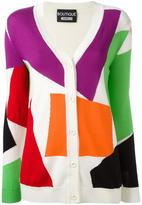 Moschino block pattern cardigan