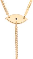 Jennifer Zeuner Jewelry Eye/Hand Lariat Necklace with Diamond and Sapphire