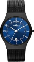 Skagen Men's T233XLTMN Royal Dial And Black Signature Band Watch