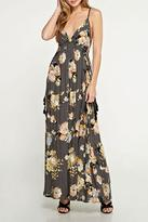 Love Stitch Lovestitch Printed Floral Maxi Dress