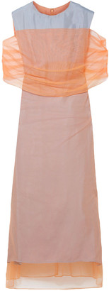 Sies Marjan Lisette Layered Tulle And Woven Midi Dress