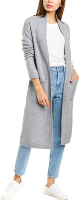 Raffi Back Stripe Wool Coat