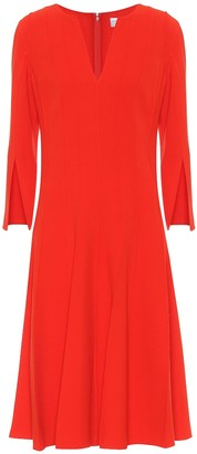 Oscar de la Renta Stretch-wool crepe midi dress