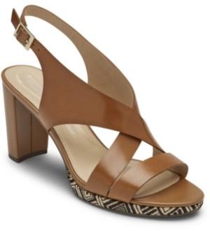 Rockport Women's Total Motion Ivy Cross Sling Sandals Women's Shoes