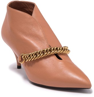 Burberry Bronwen Chain Link Pointed Toe Leather Bootie