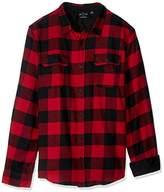 Burnside Men's Vector Buffalo Plaid Flannel Long Sleeve Shirt