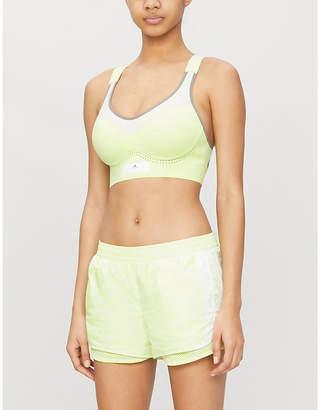 adidas by Stella McCartney Run M20 mid-rise recycled shell shorts