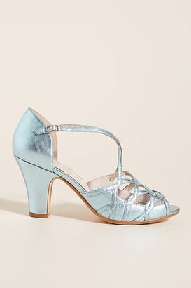 Miss L Fire Adele Heels By in Blue Size 37